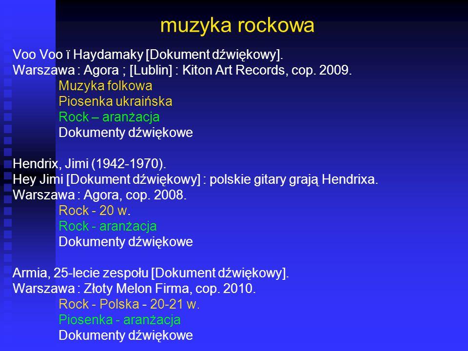 muzyka rockowa Voo Voo ï Haydamaky [Dokument dźwiękowy].